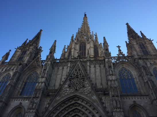 External shot of the Barcelona Cathedral