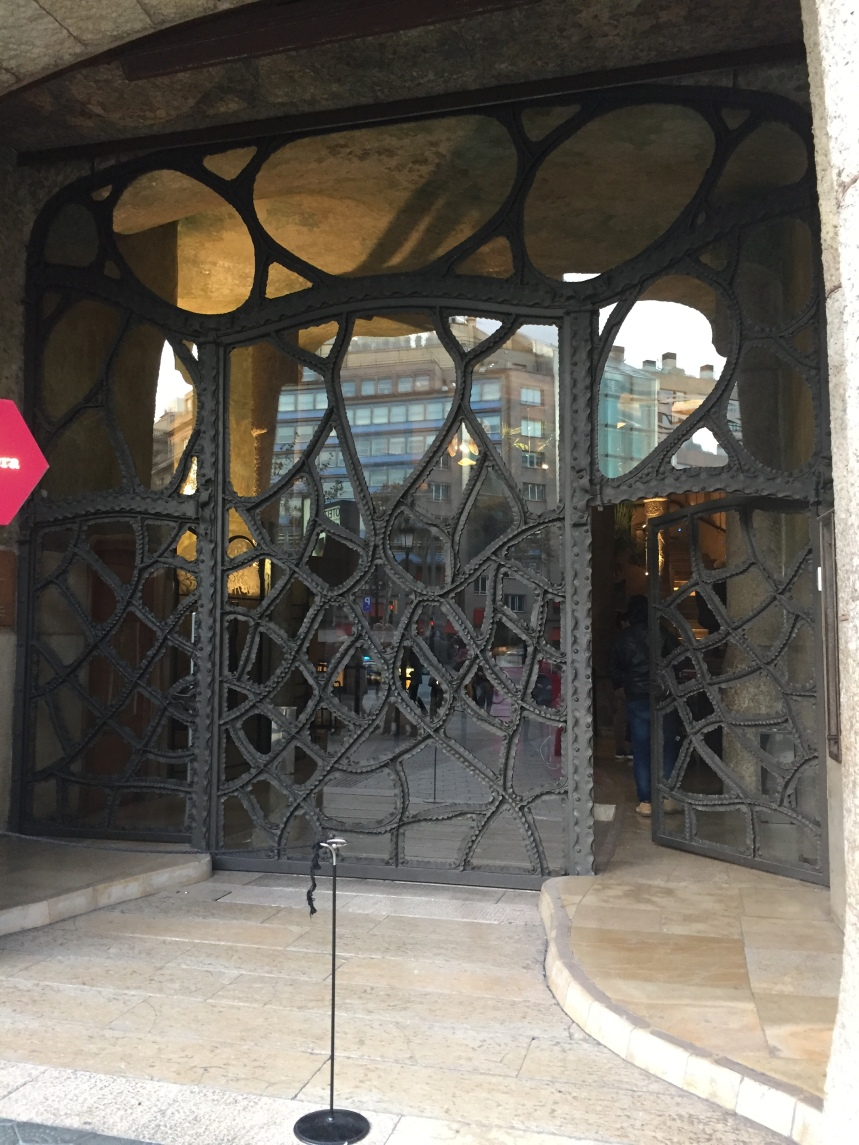 One of the doors to Casa Milà