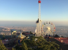 Tibidabo Amusement Park, Barcelona sprawled out below
