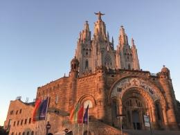 Sun set at Samrat Cor Church