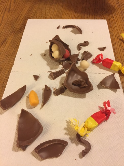 Our smashed cauldron - the chocolate of course was amazing