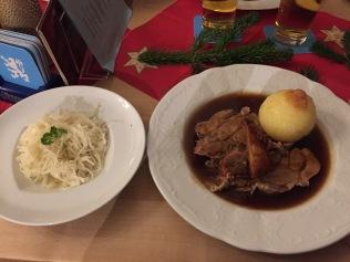 Hearty Barvarian dinner