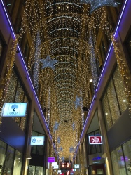 Christmas lights in a shopping centre