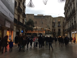 Wandering the streets christmas shopping