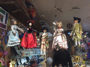 Marionettes hanging waiting for a christmas home