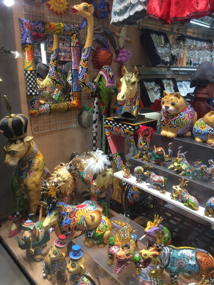 Window display of toys that kids seemed to lose their shit over!