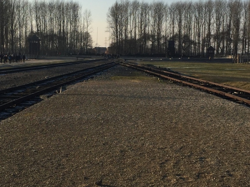 End of the rail line at Birkenau