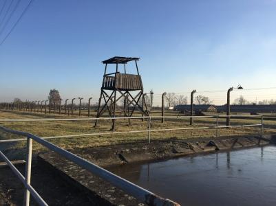 Guard tower at Birkenau