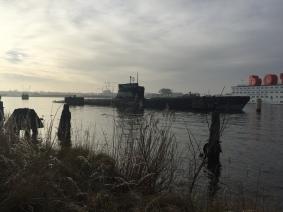 A abandoned submarine